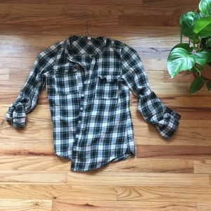 Olive & Oak Casual Flannel Shirt, Size S